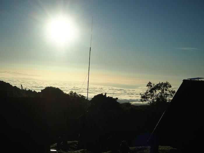 すでに雲の上、2730mまで来ています