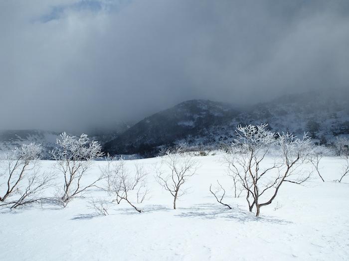 ザ・雪山といった感じの景色