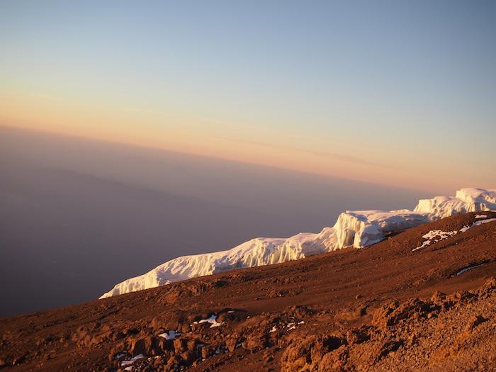 ステラポイントから見た氷河