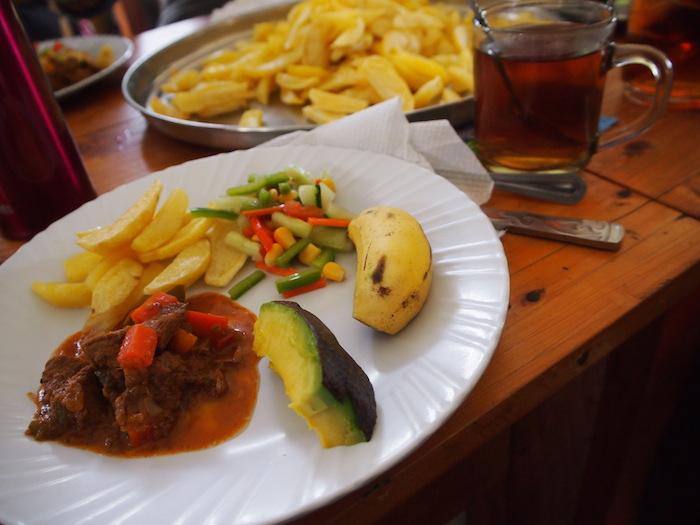 コックさんが作ってくれた最後の昼食。ありがたく、美味しかった!