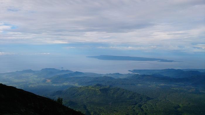 景色の素晴らしさに救われる。海までばっちり見えています