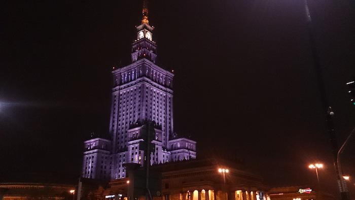 文化科学宮殿とともに、おやすみなさい