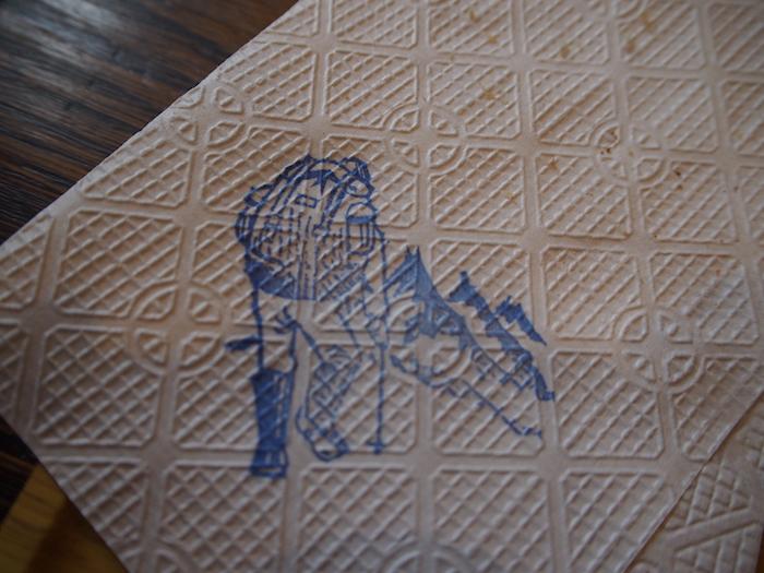 紙ナプキンに登山者のはんこが!