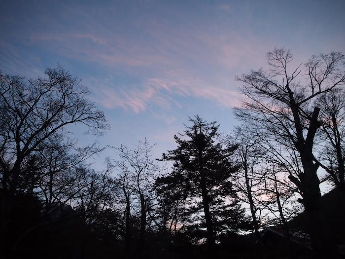 朝の空。バニラスカイですな
