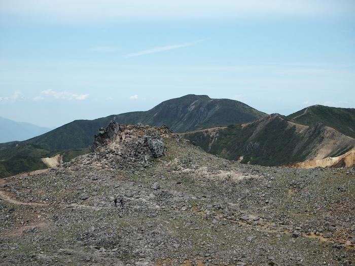 噴火口とその周りの道