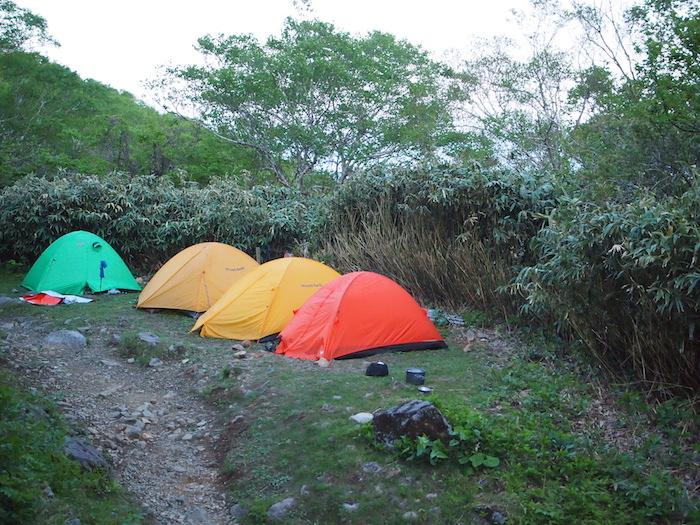 テントでも宿泊可能です