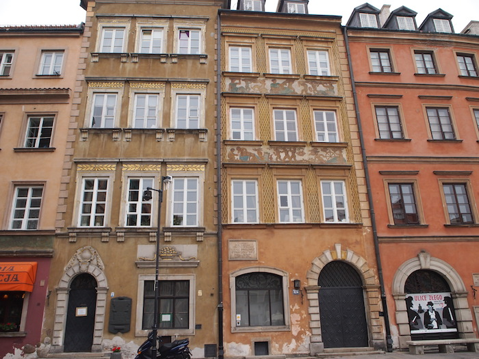 ワルシャワ旧市街の建物