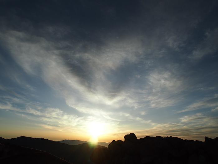 太陽が登りきるとこんな感じ