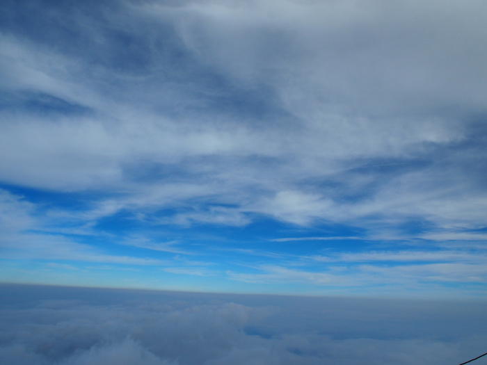 雲海と青空が見えてきました
