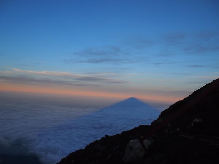 影富士を眺めながら下山