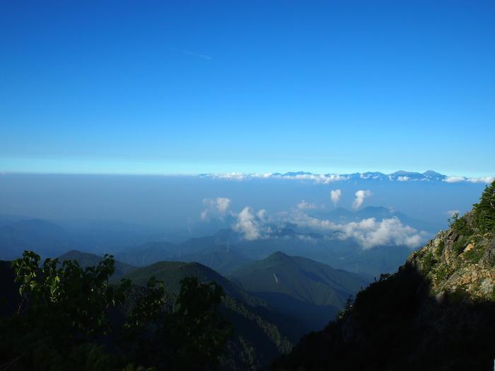 晴天でアルプスの眺めもばっちり