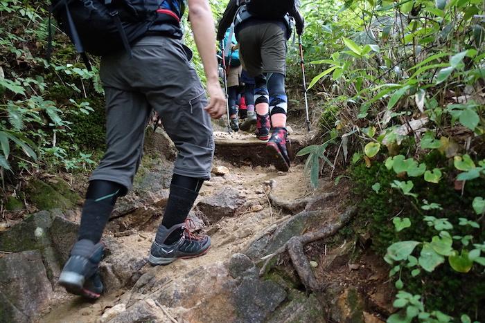 健脚な人たち。登る、登る。